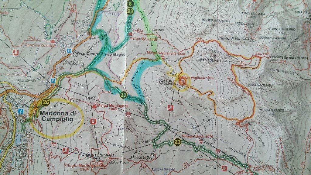 itinerario trek del Brenta