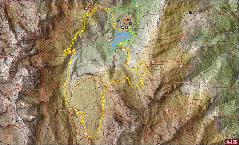 cartina del lago di tovel ti amo trentino