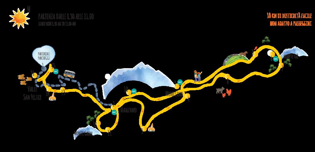 il percorso della Cammina Grestana 2015