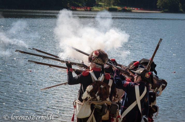 Rievocazione storica Battaglia Napoleone Altopiano di Pinè spari
