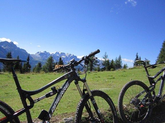 mountain bike nelle dolomiti di brenta ti amo trenitno